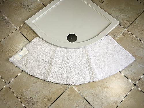 cazsplash luxury quadrant medium curved shower mat. Black Bedroom Furniture Sets. Home Design Ideas