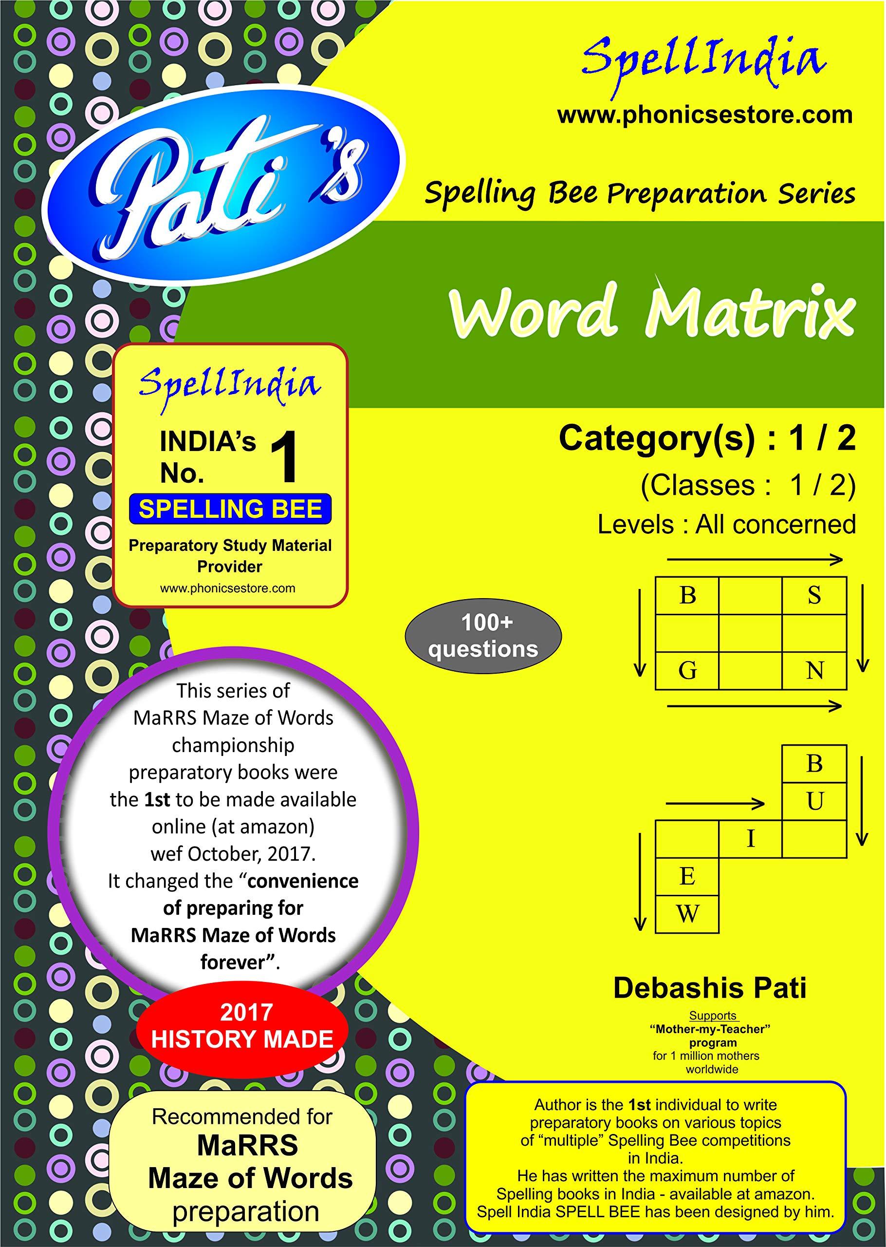 Buy Word Matrix - Categories : 1 / 2 - Classes 1 / 2