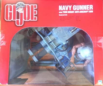 1:6 Scale GI Joe WWII Navy Twin Mount Anti-Aircraft Gun with Navy Action  Sailor Gunner 12