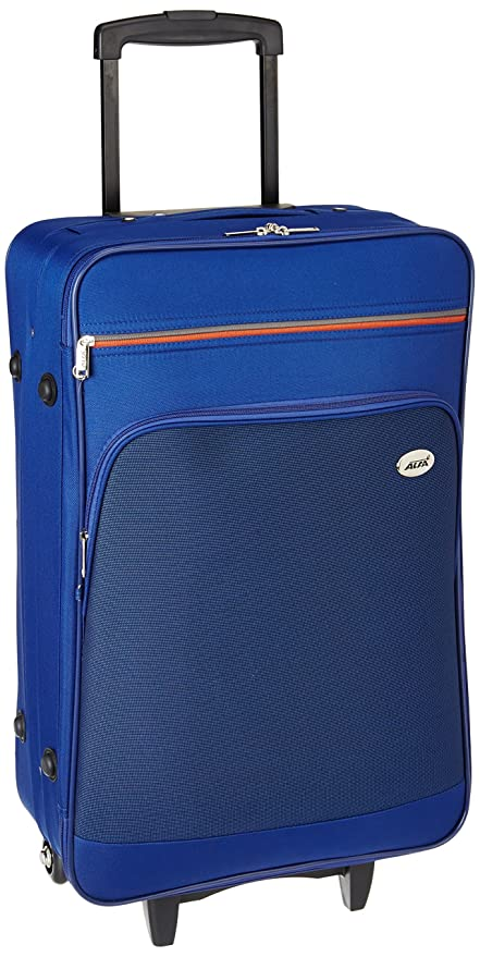 Alfa Polyester 26 cms Blue Softsided Check-in Luggage (STATA69BLU)