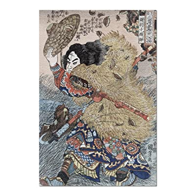 Kinhyoshi Yorin, Hero of The Suikoden Japanese Wood-Cut Print (Premium 1000 Piece Jigsaw Puzzle for Adults, 20x30, Made in USA!): Toys & Games