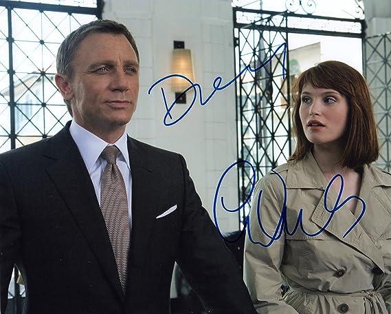 James Bond Daniel Craig Gemma Arterton Autographed Photo At