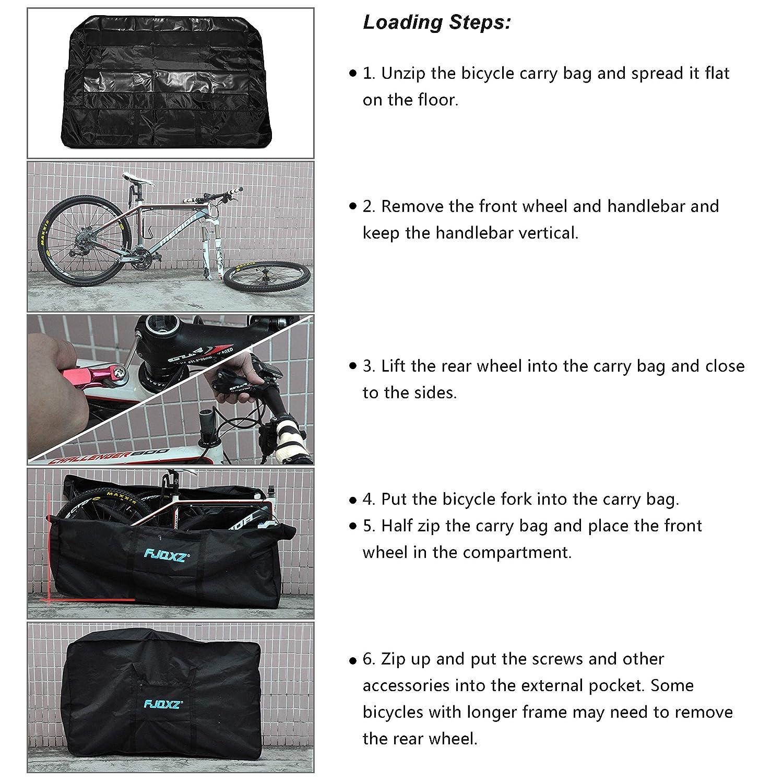 Selighting Bolsa Transporte Almacenamiento para Bicicleta 26-29 Plegable Portabicicletas