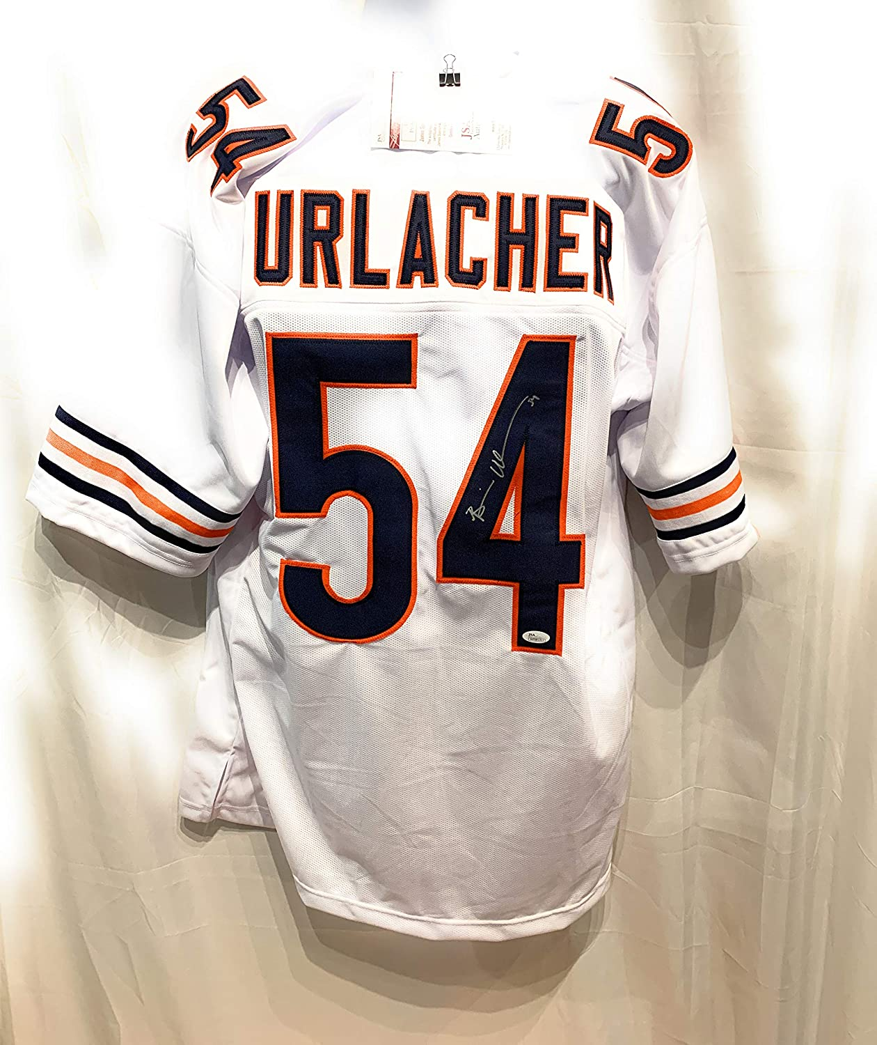 the latest 7c621 a5808 Brian Urlacher Chicago Bears Signed Autograph White Custom Jersey JSA  Witnessed Certified