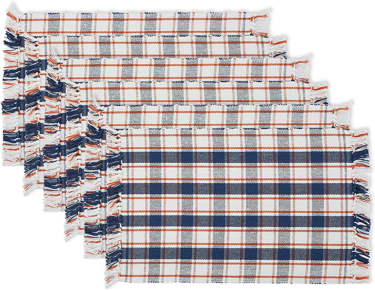 DII Autumn Plaid Tabletoppers Fall Patterned Kitchen Linens, Placemat S/6, Farmhouse