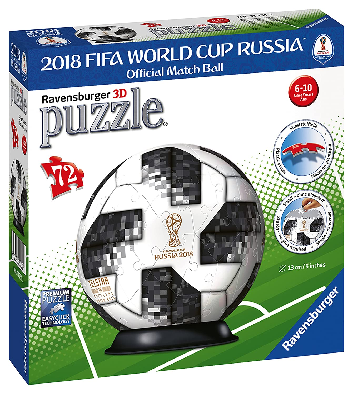 Ravensburger–Puzzle 3D Adidas Weltmeisterschaft Fußball-201872teilig, 11751 Ravensburger Spielverlag