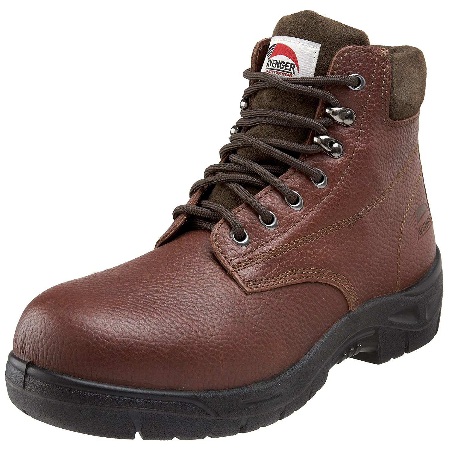 Avenger Safety Footwear メンズ B002WC8B2S 9.5 D(M) US|ブラウン ブラウン 9.5 D(M) US
