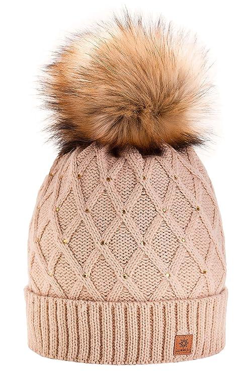Morefaz - Gorro de invierno para mujer 74f2c996b9e