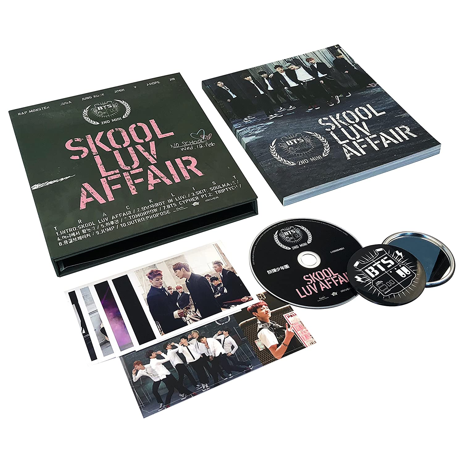 BTS 2nd Mini Album - [ Skool Luv Affair ] CD + Photobook + Photocard ...