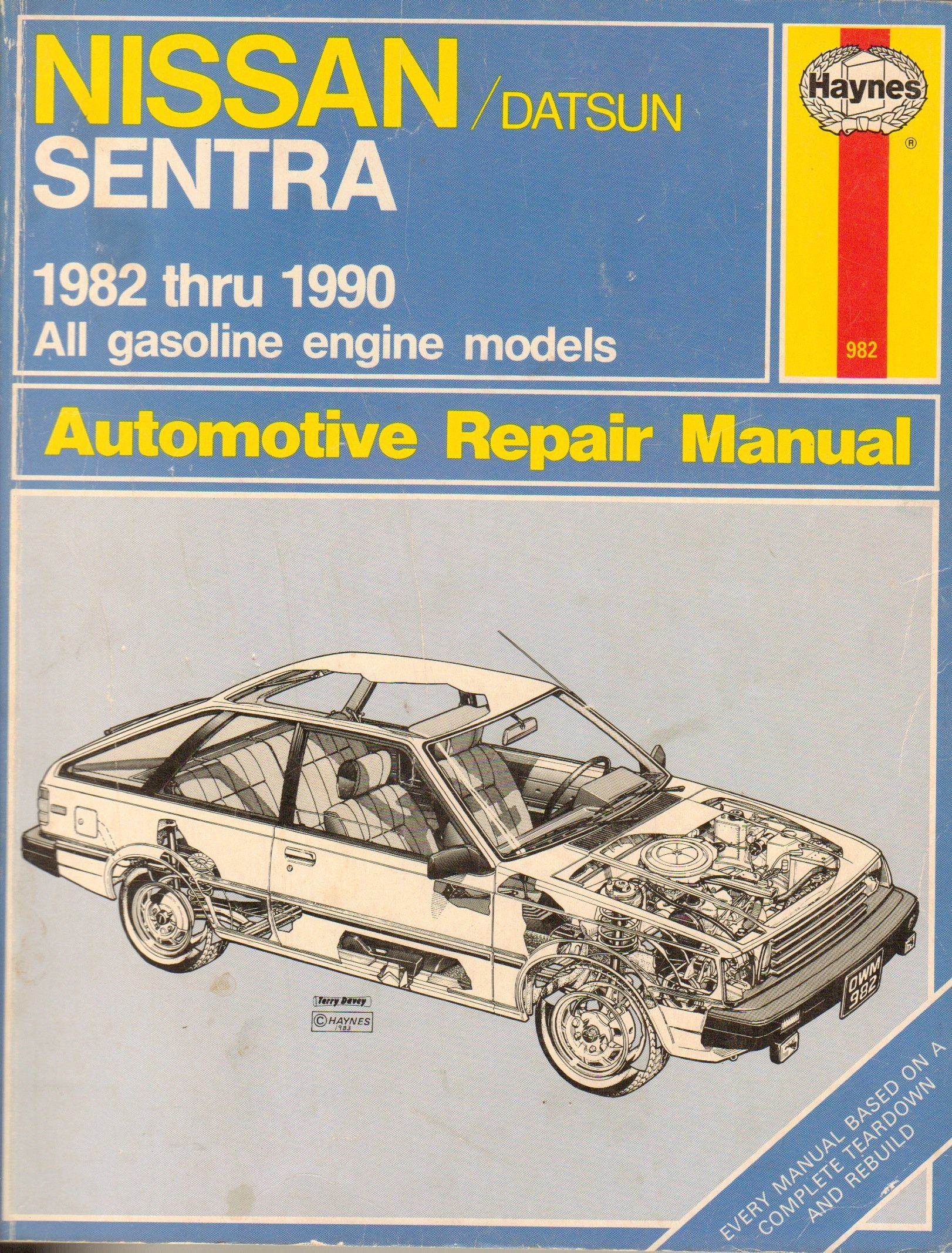 nissan datsun sentra 1982 1990 all gasoline engine models automotive rh amazon com manual de reparacion nissan sentra 1990 manual de reparacion nissan sentra 1990