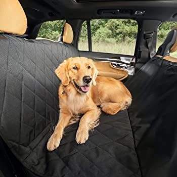 Plush Paws Hammock Dog Car Seat Cover With Pet Harnesses