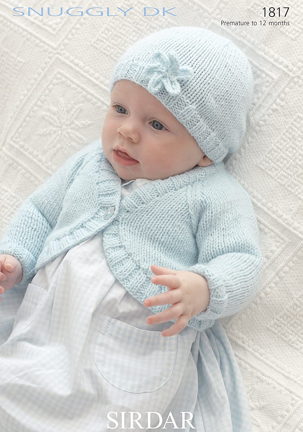 Sirdar 1817 Knitting Pattern Baby Bolero Cardigan and Hat to knit in ...