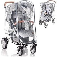 Zamboo universal buggy regnskydd med låsbart fönster - regnskydd barnvagn med dubbel dragkedja för att öppna…