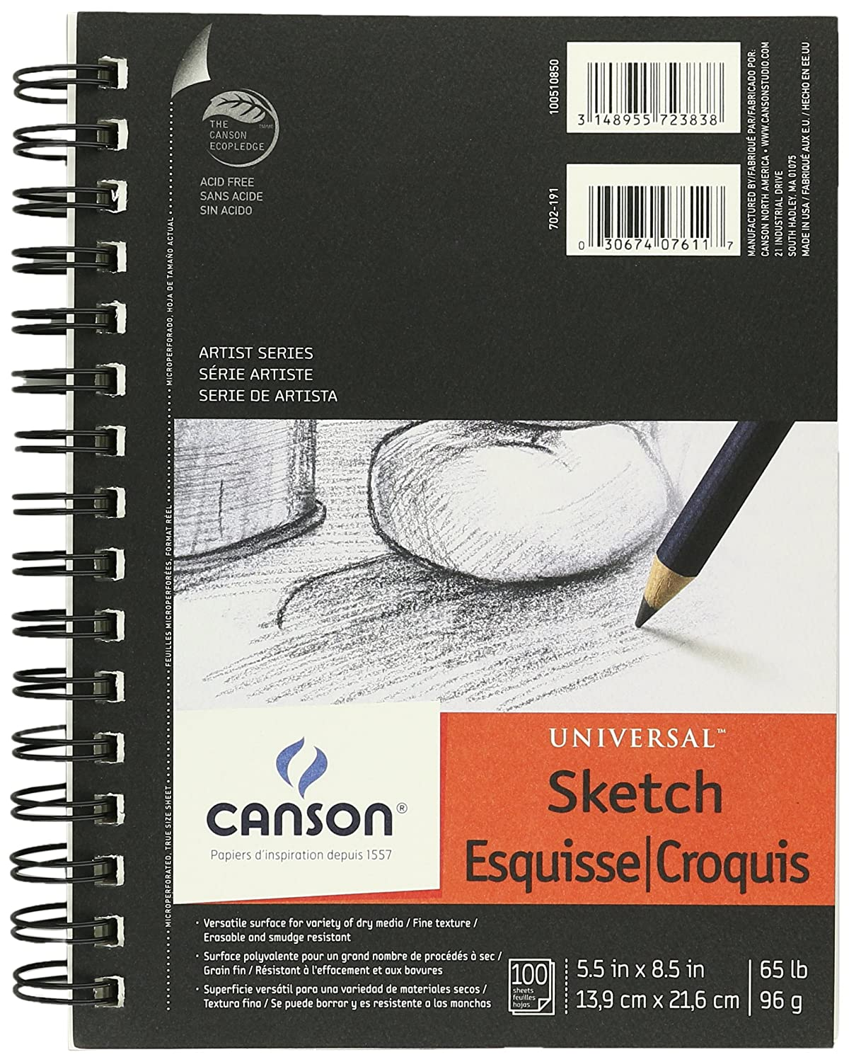 Canson Universal Sketch Pad 5.5X8.5 2 Pack HYATTS HYAB20347-2