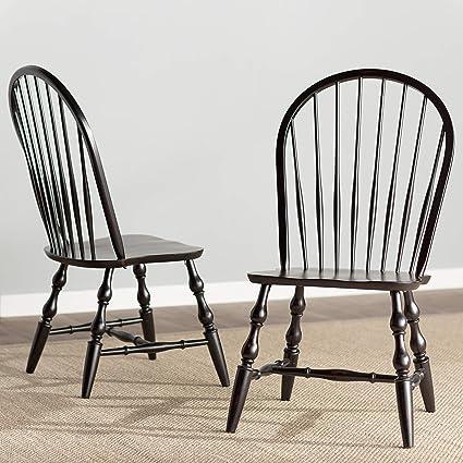 "Sunset Trading DLU-C30-AB-2 Windsor Dining Chair Set, 41"" - Amazon.com - Sunset Trading DLU-C30-AB-2 Windsor Dining Chair Set"