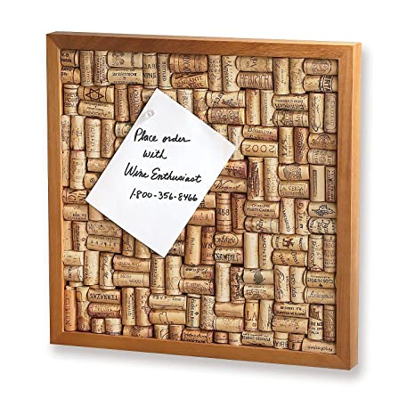 Amazoncom Wine Enthusiast Wine Cork Board Kit Bulletin Boards