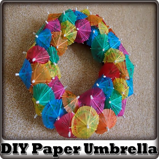 DIY Paper Umbrella (Umbrella Wreath)