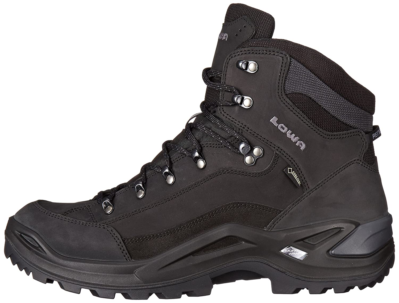Lowa Mens Renegade GTX Mid Hiking Boot,Black,12.5 M US