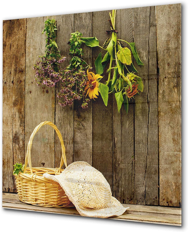 Elégant antiprojections verre sécurité - Antiprojections cuisine verre - Fond de paroi BS01 Série herbes: Plantes suspendues 3