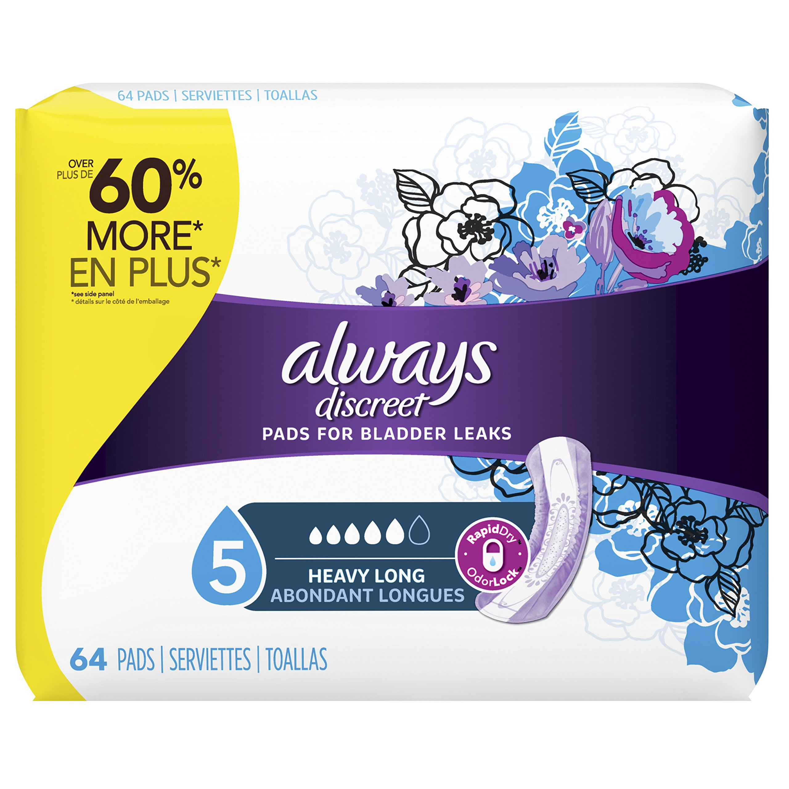 Always Discreet Pads, 64ct by Always Discreet
