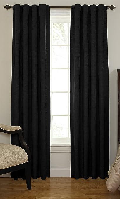 Beautyrest 11239042X108BK Chenille 42 Inch By 108 Rod Pocket Single Window Curtain Panel