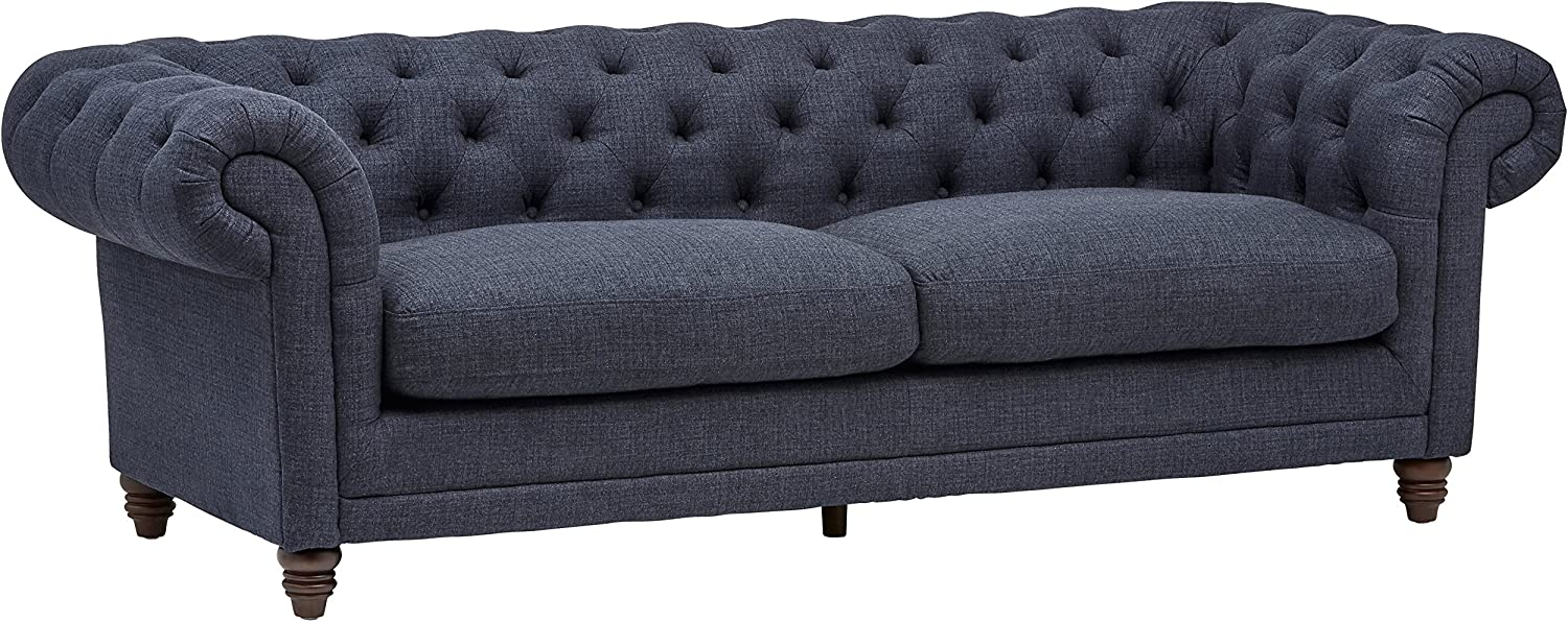 Amazon Brand – Stone & Beam Bradbury Chesterfield Tufted Sofa Couch, 92.9