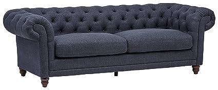 Beau Stone U0026 Beam Bradbury Chesterfield Tufted Sofa, 93u0026quot; ...