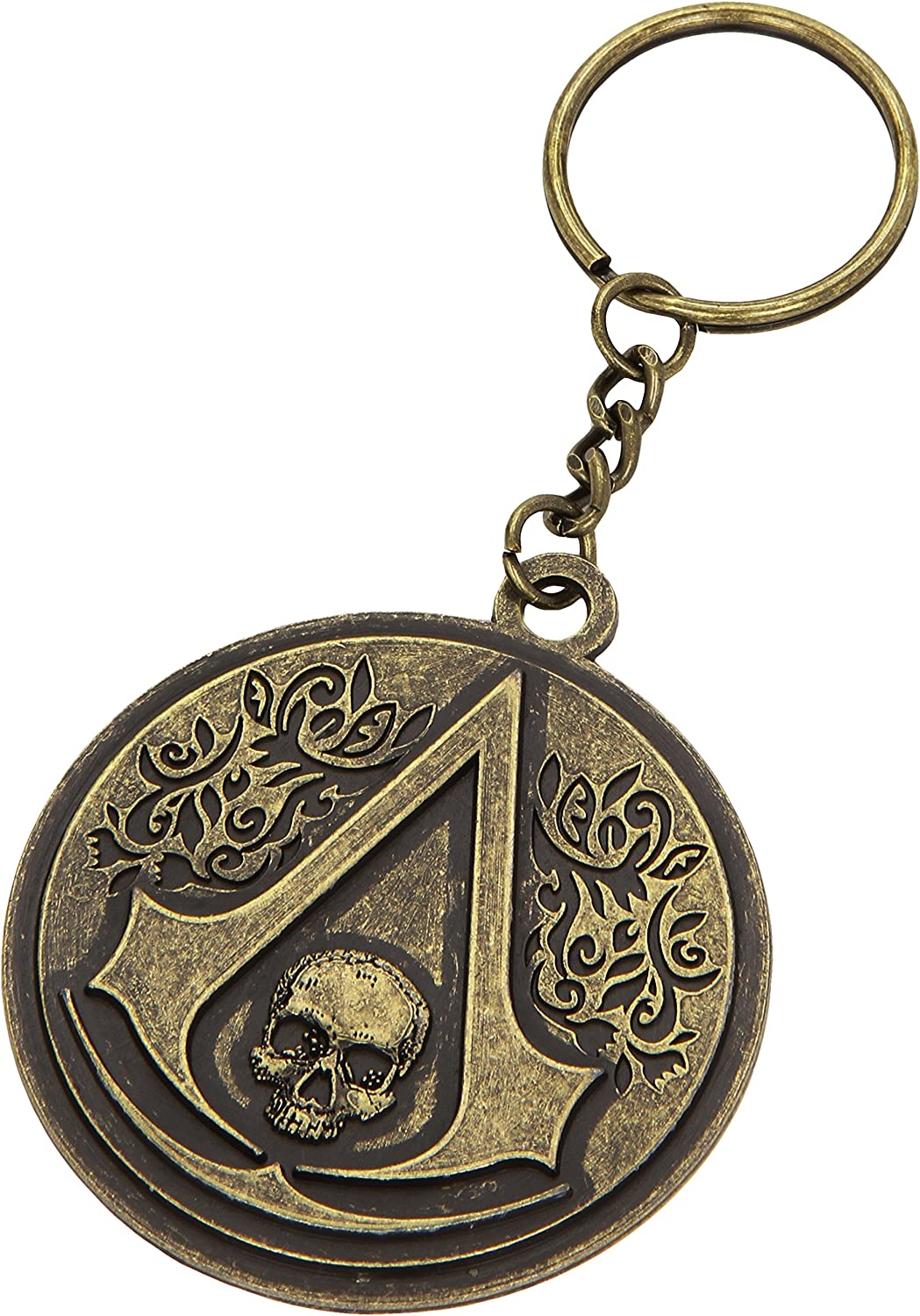 Assassin S Creed Iv 4 Black Flag Skull Crest Logo Metal Keychain