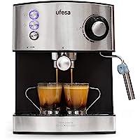 Ufesa CE7240-Cafetera Espresso, 850W, Depósito extraíble de 1,6