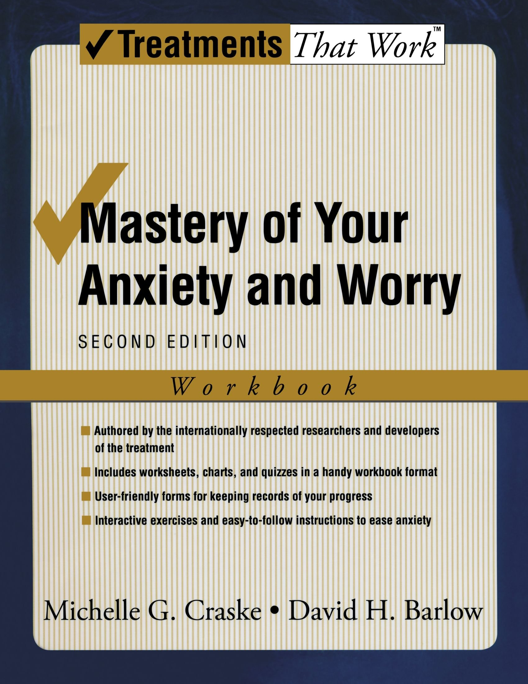 Mastery of Your Anxiety and Worry: Workbook (Treatments That Work) by Oxford University Press USA