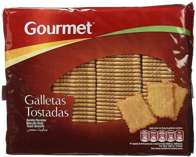 Gourmet - Galletas tostadas - 4 x 200 g: Amazon.es: Alimentación y bebidas
