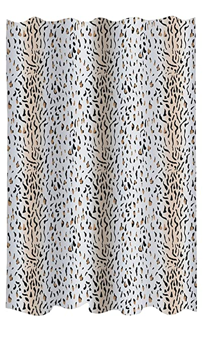 Royal Bath Wild Selva Panther Design Extra Wide Fabric Shower Curtain Size 108quot X