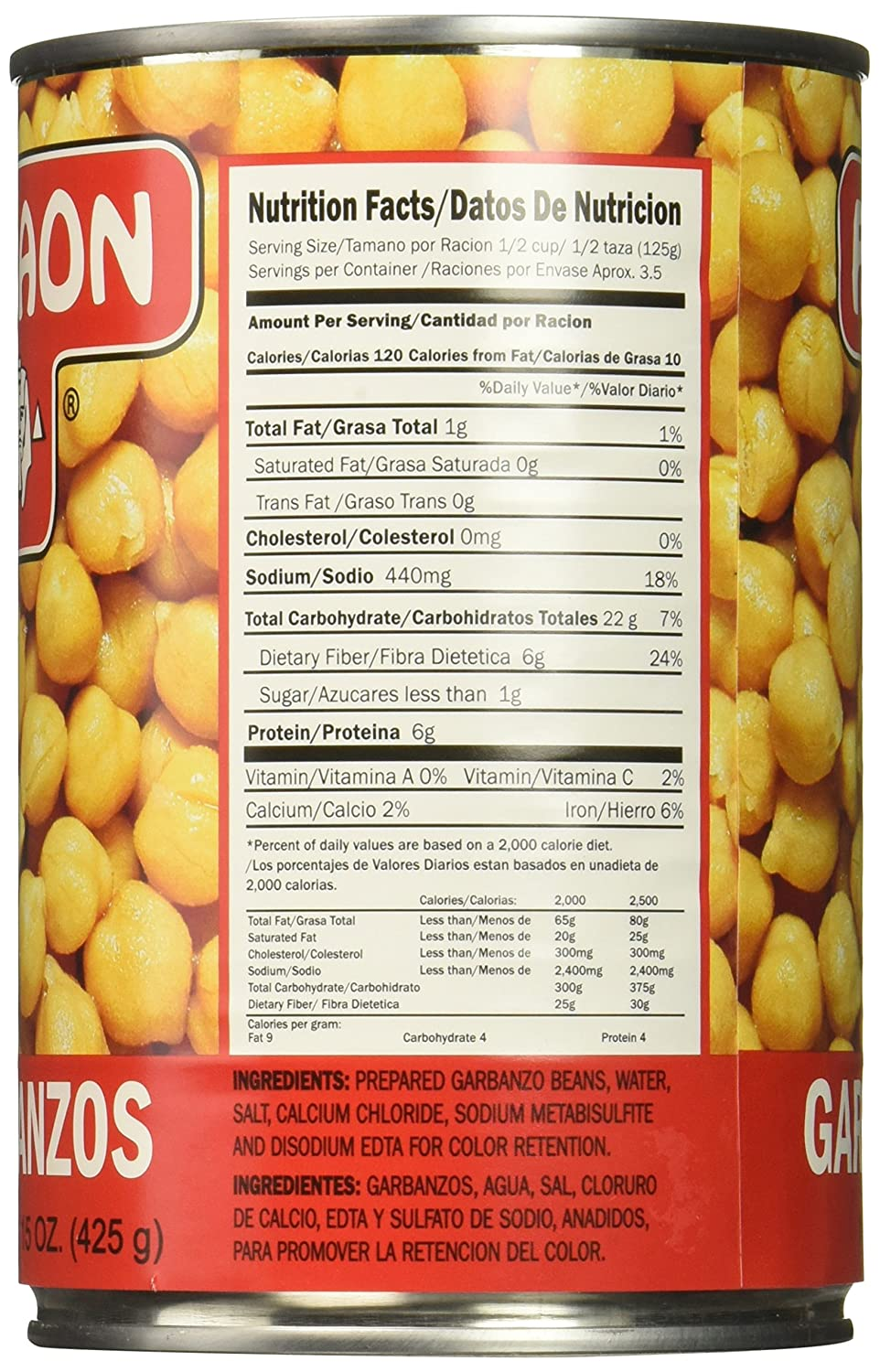 Amazon.com : FARAON Garbanzos, 15 Ounce (Pack of 12) : Grocery & Gourmet Food