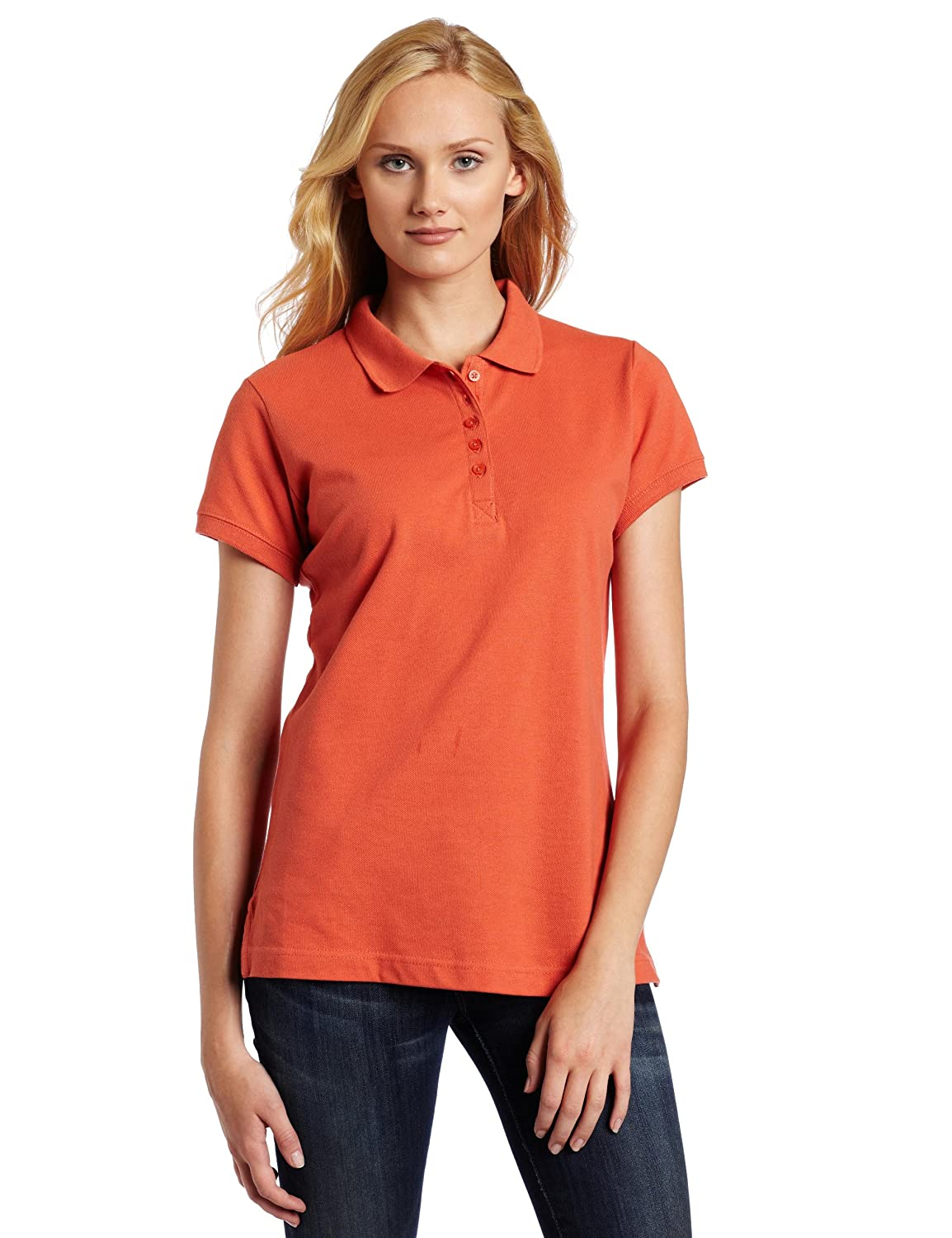Dickies Womens Pique Polo Shirt At Amazon Womens Clothing Store