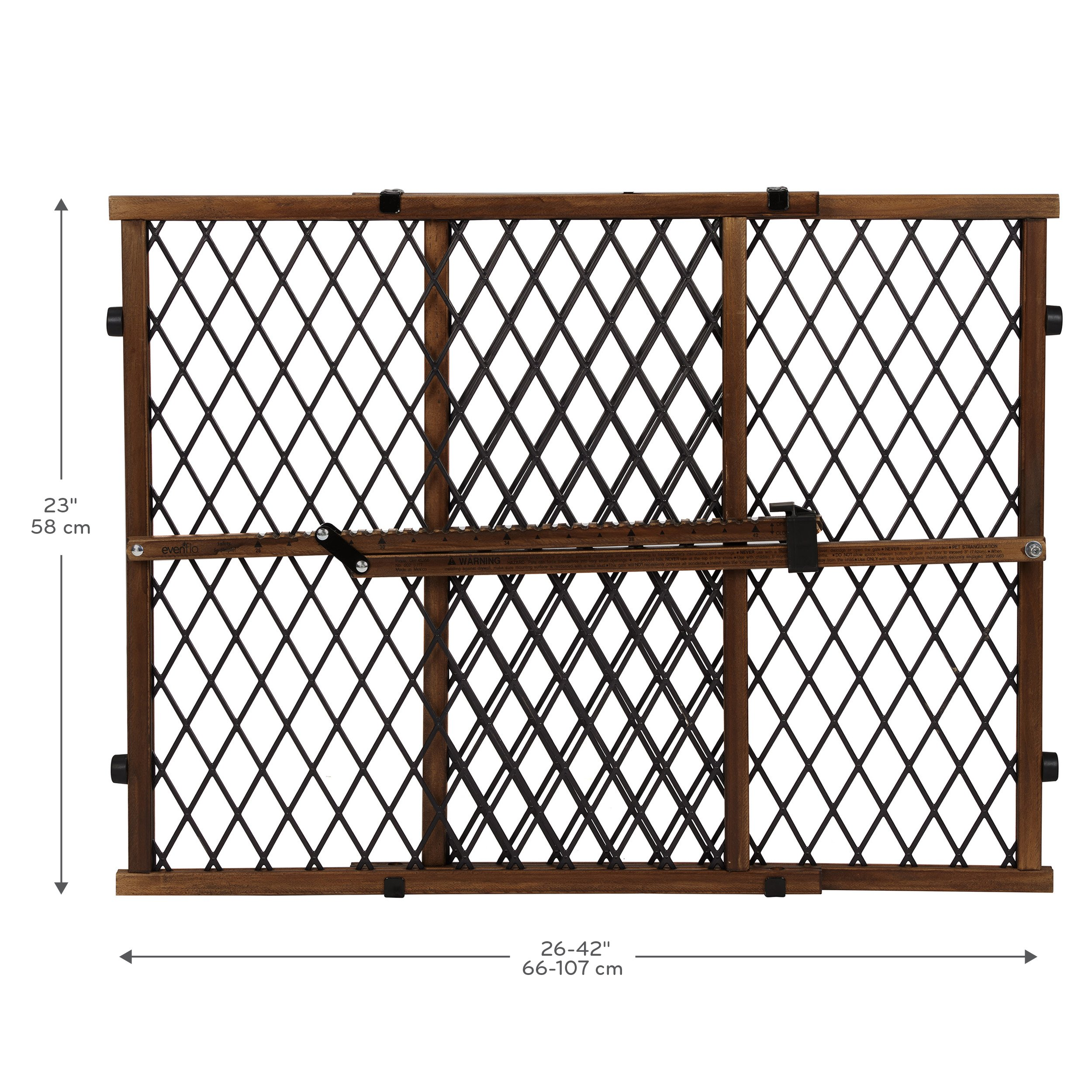 Evenflo Position and Lock Farmhouse Pressure Mount Gate, Dark Wood by Evenflo (Image #3)