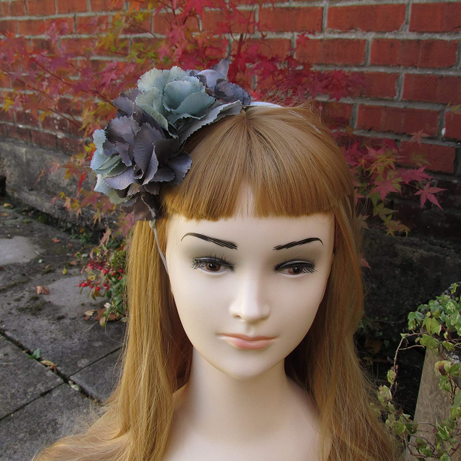 Grey And Soft Green Hydrangea Fascinator On A Headband Mother Of Bride Wedding Guest Hair Accessories Amazoncouk Handmade: Headband For Wedding Guest At Websimilar.org