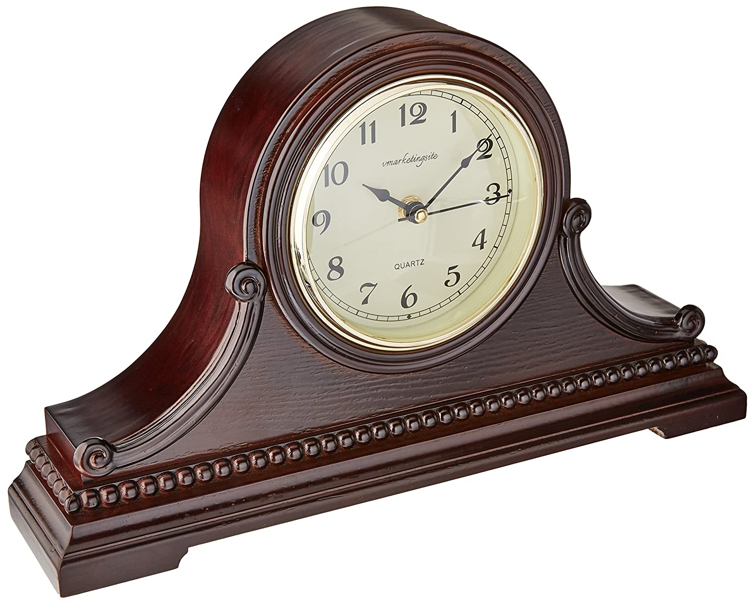 Vmarketingsite Decorative Mantel Clock with Westminster Chime, 9