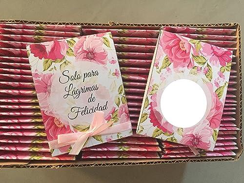Pañuelos para Bodas. Lágrimas de Felicidad para los que lloran en las Bodas: Amazon.es: Handmade