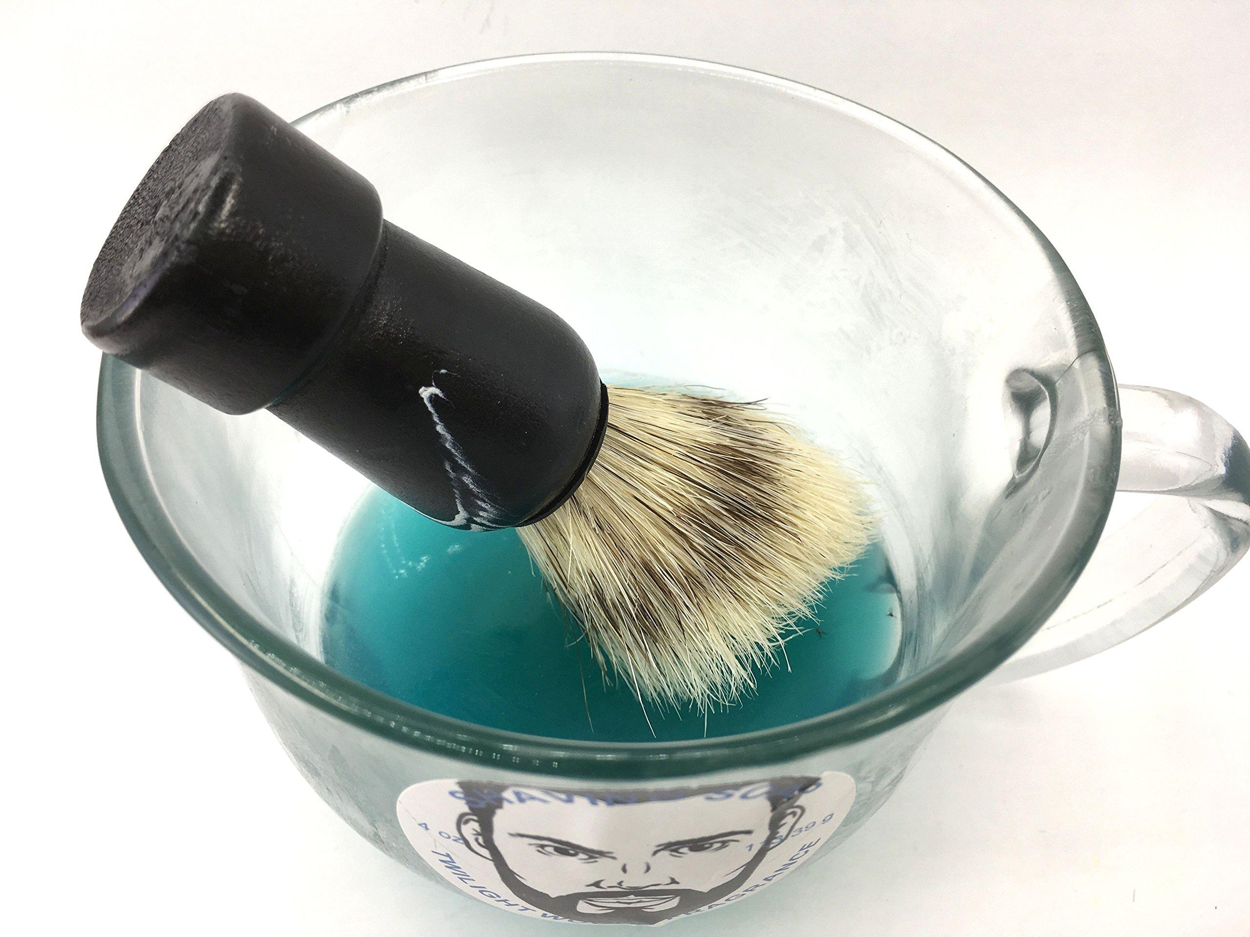 Shaving soap and brush set 4 oz twilight woods for men type fragrance