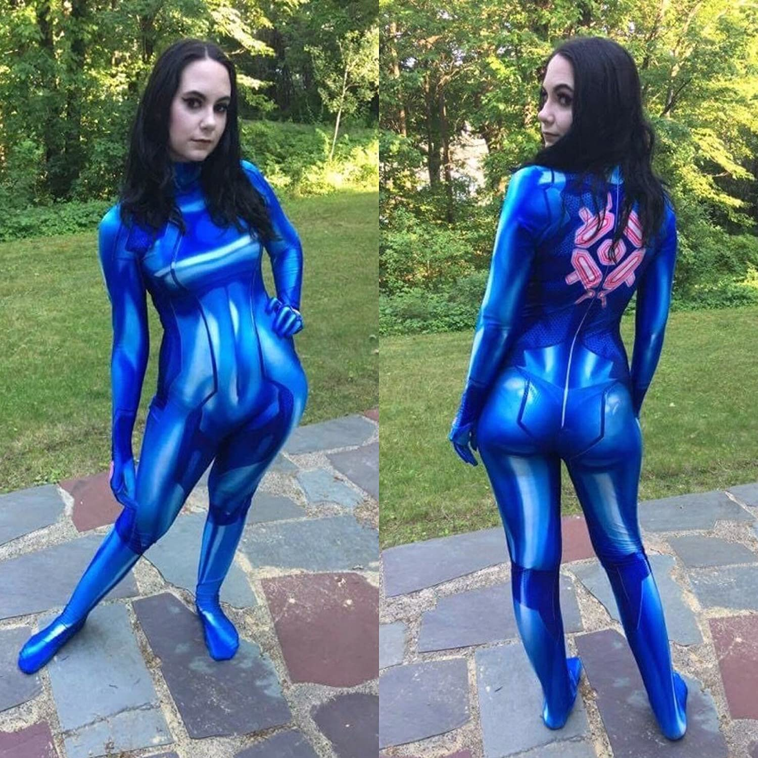 Amazon Com Cosplaylife Zero Suit Samus Cosplay Costume Samus Aran