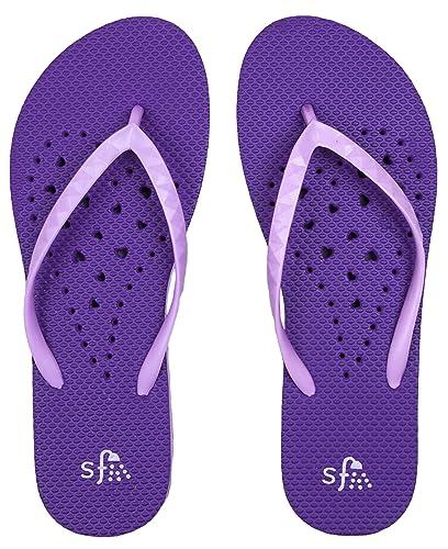 College Women's Heart Flip Flop Sandals