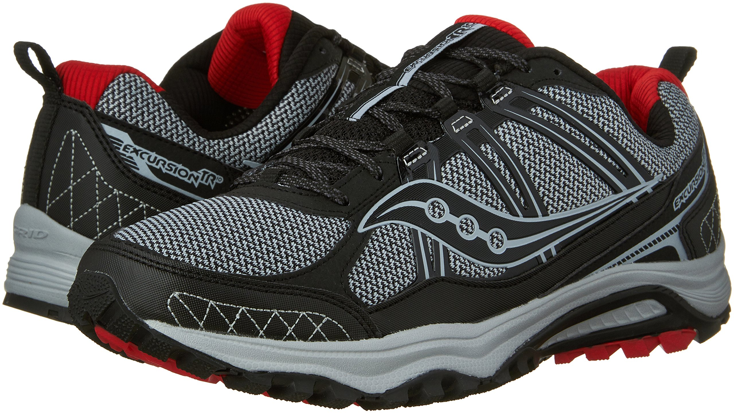 Saucony Excursion TR10 Wide Men 9 Grey | Black | Red by Saucony (Image #6)
