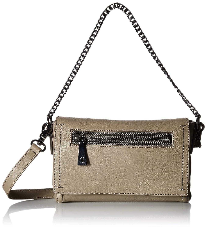 e94d450c84a2 FRYE Lena Chain Zip Leather Crossbody Bag, Grey: Amazon.in: Clothing ...