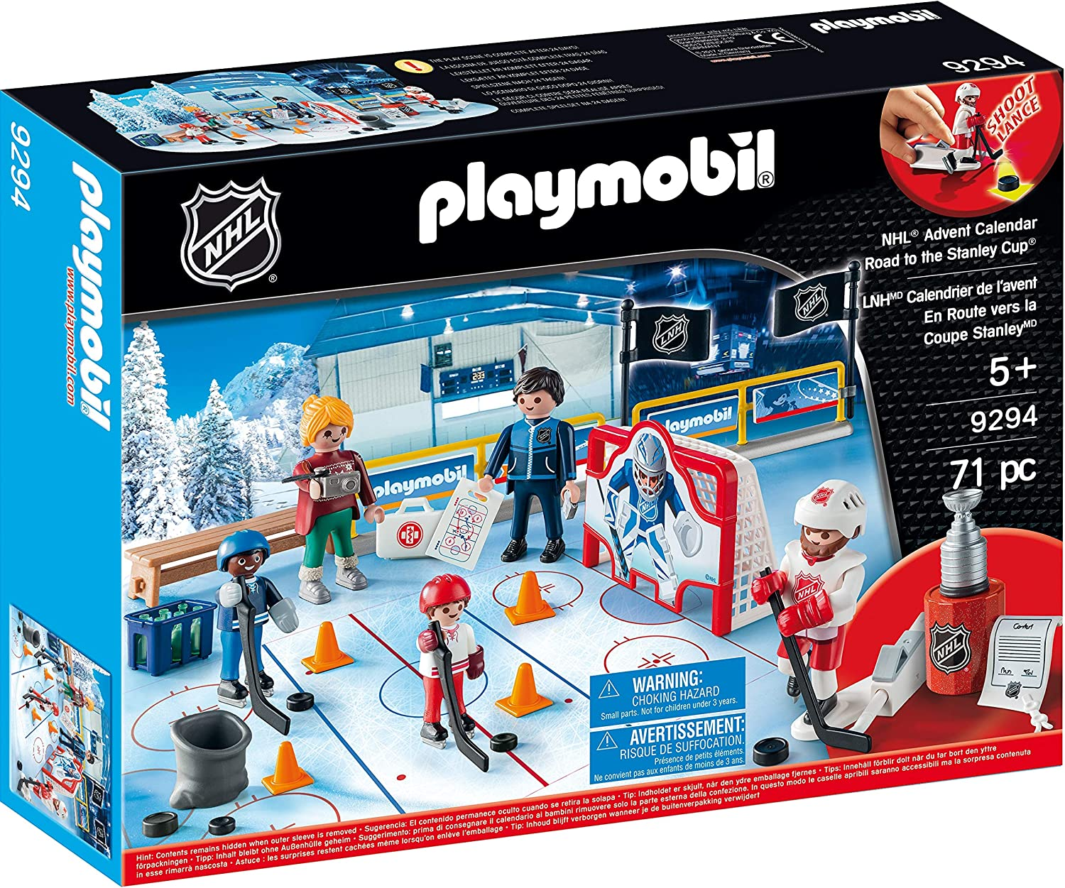 PLAYMOBIL® NHL Advent Calendar - Road to The Cup, Multicolor