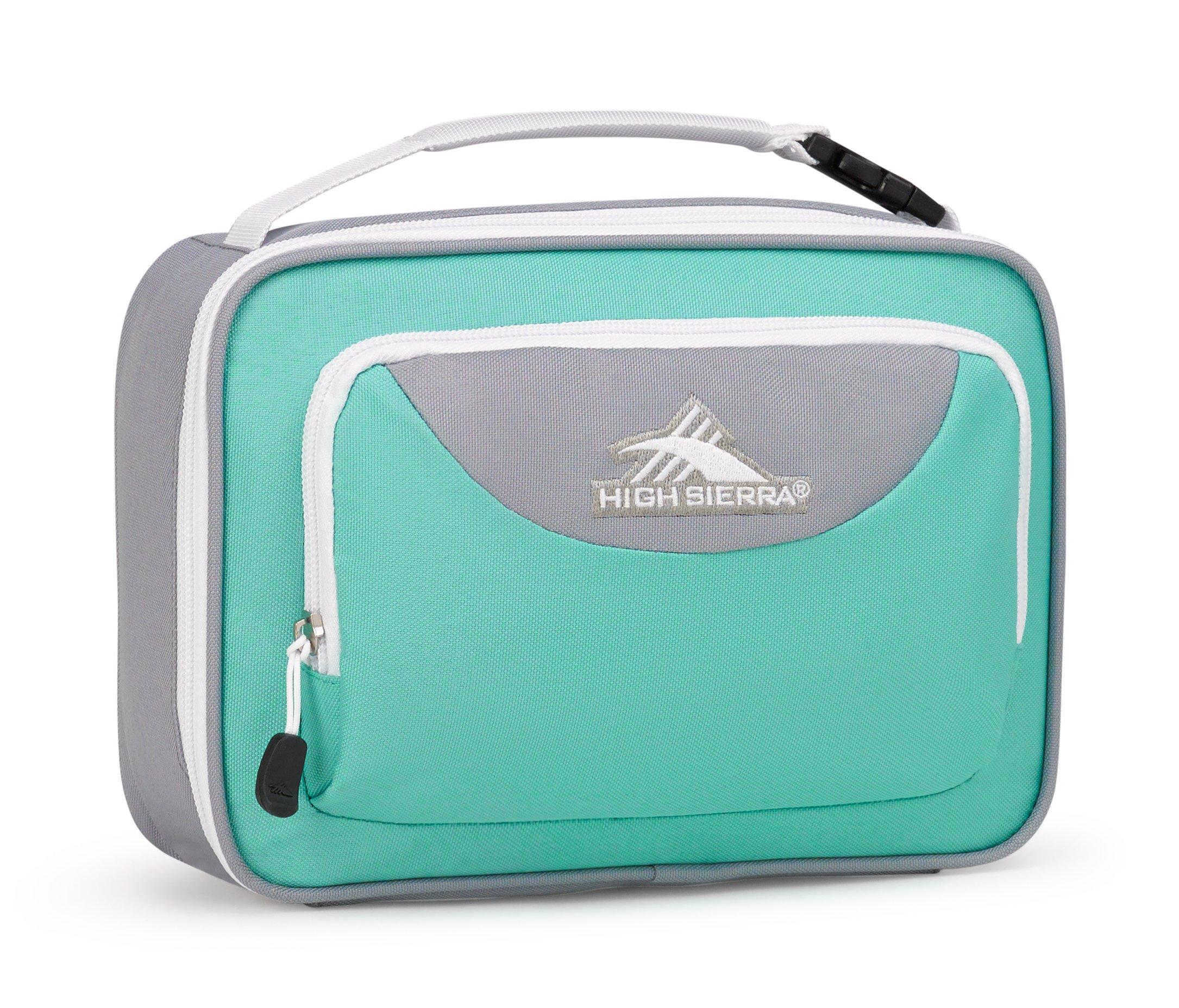 High Sierra Single Compartment Lunch Bag, Aquamarine/Ash/White