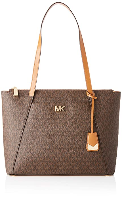 841e5723e4 Michael Kors Maddie Medium Ew Top Zip Tote - Borse Donna, Multicolore (Brn/