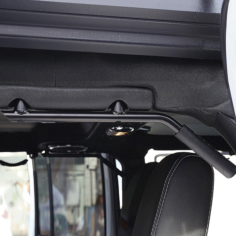 Pair Red Hooke Road Solid Steel Rear Grab Handle Bar for 2007-2018 Jeep JK Wrangler Unlimited 4-Door