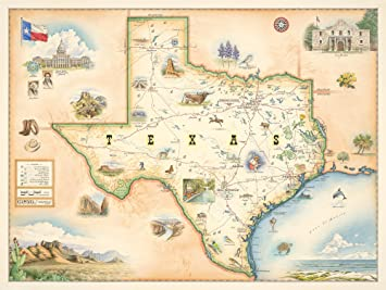 Amazoncom Texas State Map Map Art No Frame Print Only - Texas state map