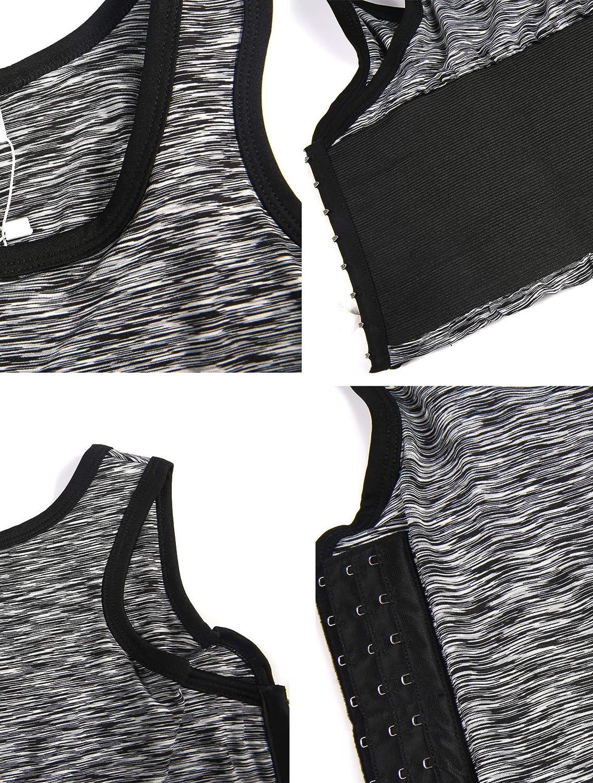 M-6XL XUJI Women Tomboy Breathable Cotton Elastic Band Colors Chest Binder Tank Top