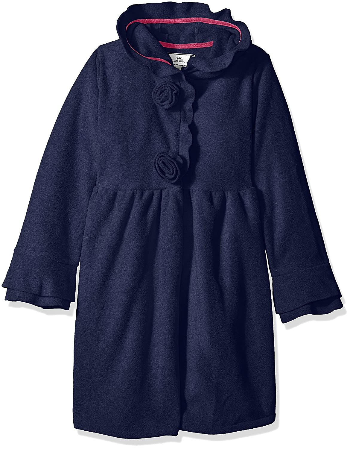 Widgeon Girls Fleece Hooded Rosette Coat